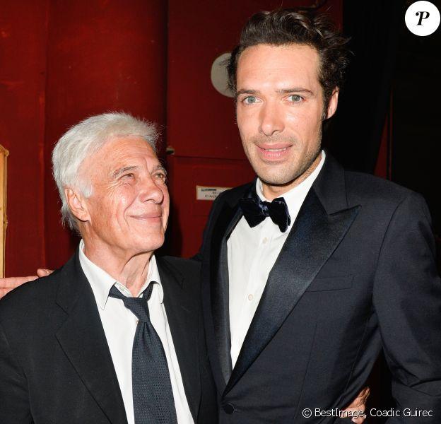 Guy Bedos et son fils Nicolas Bedos - 29ème cérémonie des Molières 2017 aux Folies Bergère à Paris le 29 mai 2017. © Coadic Guirec/Bestimage