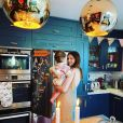 Sophie Ellis-Bextor et son fils Mickey. Avril 2020.