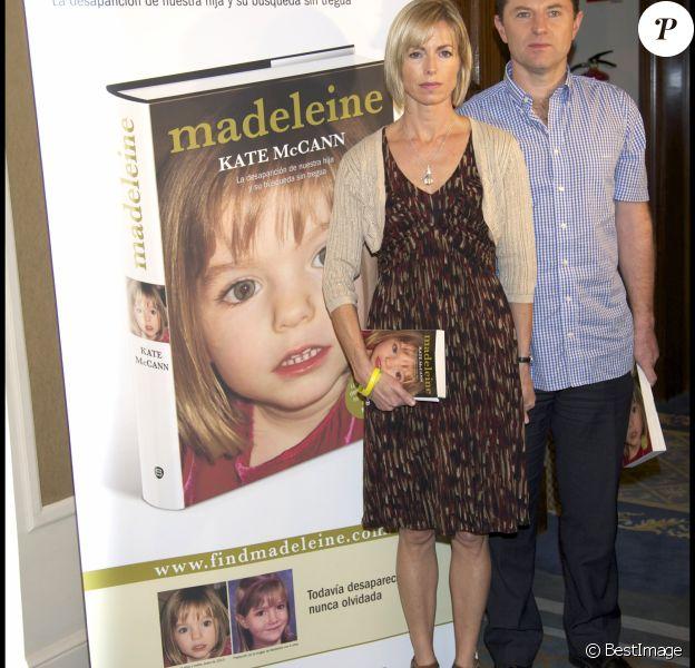 Kate et Gerry McCann lors de la sortie de leur livre Madeleine, en 2011 à Madrid.