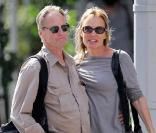 Jessica Lange et Sam Shepard, dans le quartier de West Village, à New York, le 2 septembre 2009