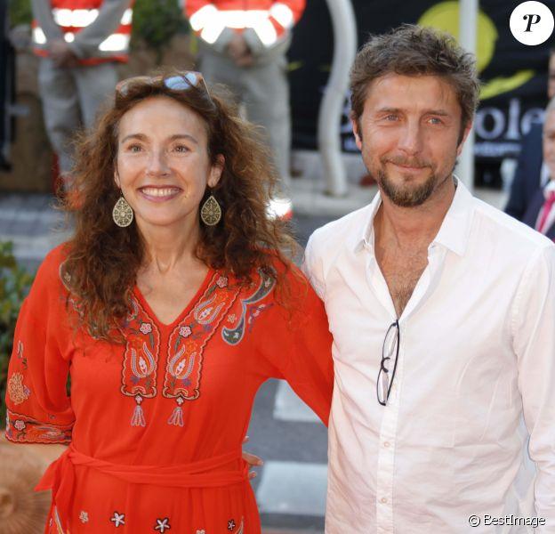 Isabel Otero et son compagnon Joachim - Ouverture du 6ème Festival Les Héros de la Télé à Beausoleil le 7 octobre 2017.