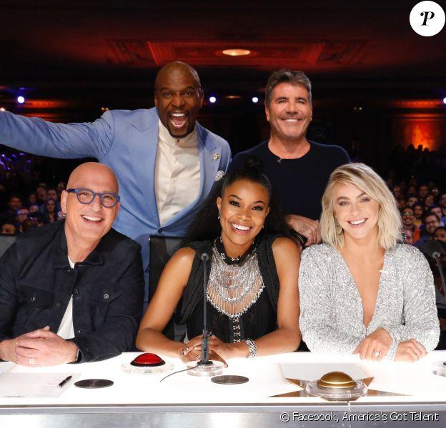 Gabrielle Union (assise, au milieu) a été juré d'America's Got Talent lors de la saison 14 de l'émission, diffusée entre les 28 mai et 18 septembre 2019.