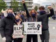 Cathy Guetta et David : Les ex-époux réunis avec leurs enfants pour manifester