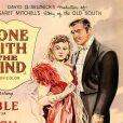 """Affiche du film """"Autant en emporte le vent"""", sorti en 1939 et qui a été retiré le 9 juin 2020 du catalogue  de la plateforme de streaming HBO Max, en plein mouvement de protestation contre le racisme et les violences policières visant les Noirs aux Etats-Unis."""