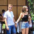 Exclusif - Jenson Button et sa fiancée Brittny Ward sont allés diner en amoureux à Beverly Hills, le 10 juillet 2018