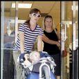 Jennifer Garner et sa fille Violet vont au supermarché à Boston (3 septembre 2009)