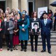 Emma Watson, Kathryn Kaufman, Maryam Monsef, Marlene Schiappa, Caren Marks, Trine Skei Grande, Hélene Marie Laurence Ilboudo, Kazuyuki Nakane - Sommet du G7 en France, le 10 mai 2019. Emma Watson était invitée à parler de l'égalité des genres.