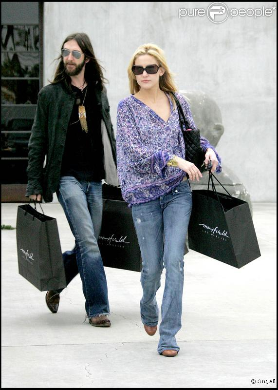 Chris Robinson avec Kate Hudson à l'époque de leur amour...
