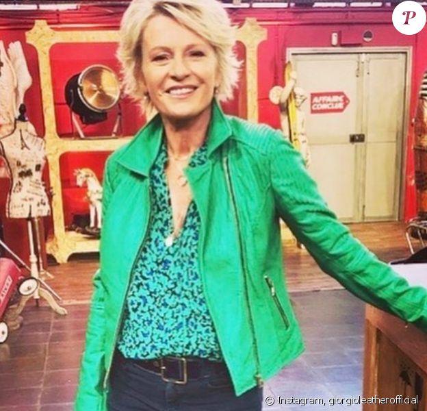 Sophie Davant porte une veste signée de la marque Giorgio & Mario appelée Colombe et d'une valeur de 389 euros - Instagram, 15 octobre 2019