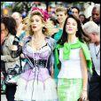 Sarah Jessica Parker et Kristin Davis sur le tournage de Sex and The City 2 et c'est ambiance eighties !