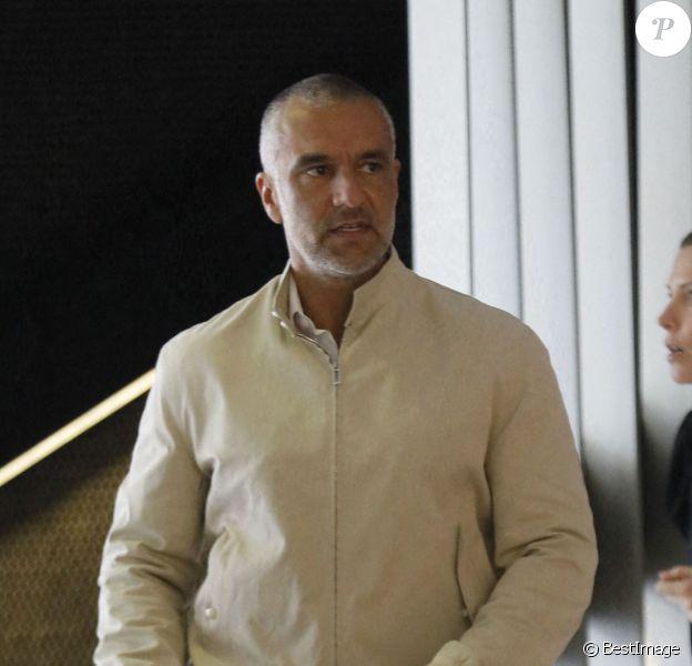 Exclusif - Patrick Antonelli, le mari de la chanteuse A.Bent, quitte le tribunal de grande instance à Nanterre, après avoir reçu le verdict de son procès. Le 8 juillet 2020.