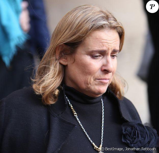 Lisa Azuelos (fille de la défunte) - Obsèques de Marie Laforêt en l'église Saint-Eustache à Paris, le 7 novembre 2019. © Jonathan Rebboah / Panoramic / Bestimage