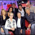 Michel Drucker, Meryl Streep et l'équipe de Vivement Dimanche