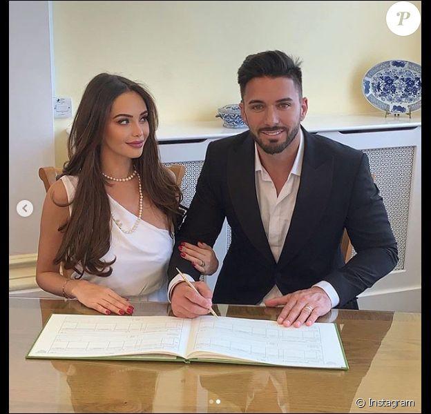 La divine Nabilla et Thomas Vergara, le jour de leur mariage à Londres le 7 mai 2019.