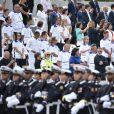 Illustration tribune lors de la cérémonie du 14 juillet à Paris le 14 juillet 2020. © Eliot Blondet / Pool / Bestimage Bastille