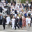 Défilé personnels soignants et militaires lors de la cérémonie du 14 juillet à Paris le 14 juillet 2020. © Eliot Blondet / Pool / Bestimage