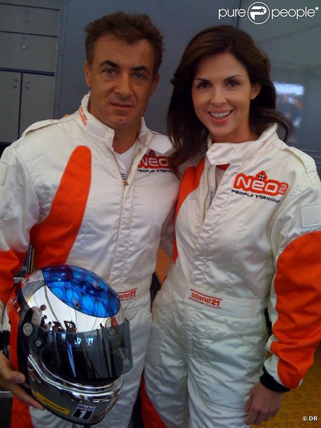 Caroline Barclay et Jean Alesi lors de la journée Soif de Vivre, dans le cadre du Grand Prix d'Albi, le 6/09/09