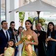 Aishwarya Rai et sa fille Aaradhya Bachchan est devant l'hôtel Martinez lors du 72ème Festival International du Film de Cannes, le 19 mai 2019.