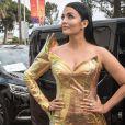 Aishwarya Rai à bord des voitures officielles du 72ème Festival International du Film de Cannes, France, le 19 mai 2019.