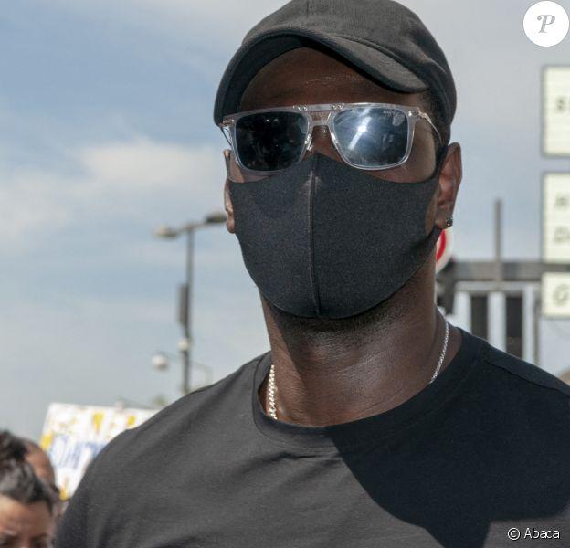 Omar Sy a participé à la marche en soutien à Adama Traoré, décédé le 19 juillet 2016. La marche s'est déroulée à Beaumont-sur-Oise le 18 juillet 2020. Photo by Serge Tenani/Avenir Pictures/ABACAPRESS.COM