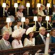 Le prince William, duc de Cambridge, Le prince Charles, prince de Galles, Camilla Parker Bowles, duchesse de Cornouailles, Catherine (Kate) Middleton, duchesse de Cambridge, Le prince Andrew, duc d'York, La princesse Beatrice d'York, La princesse Eugenie d'York et Jack Brooksbank - Cérémonie de mariage du prince Harry et de Meghan Markle en la chapelle Saint-George au château de Windsor, Royaume Uni, le 19 mai 2018.