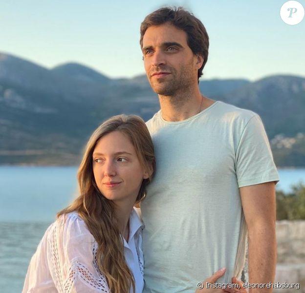L'archiduchesse Eleonore von Habsburg et son mari, le pilote belge Jérôme d'Ambrosio, sur Instagram, mai 2020.