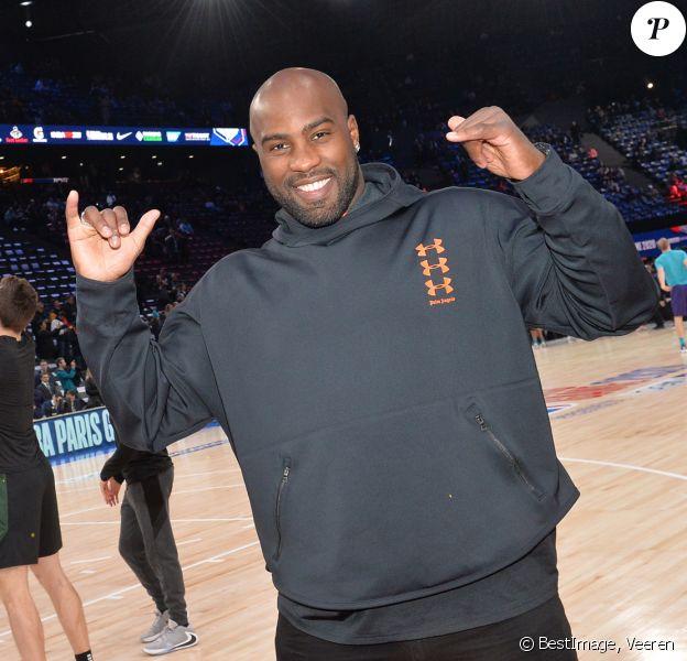 Teddy Riner assiste au NBA Game Paris 2020 opposant les Milwaukee Bucks et les Charlotte Hornets à l'AccorHotels Arena. Paris, le 24 janvier 2020. © Veeren / Bestimage