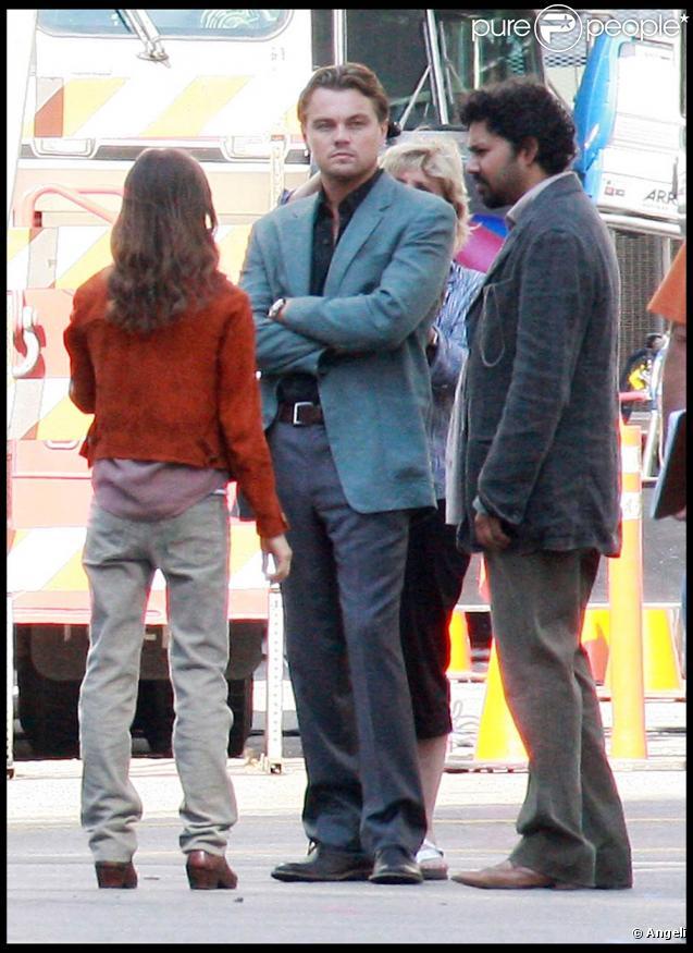 Leonardo DiCaprio sur le tournage d' Inception , à Los Angeles, le 12 septembre 2009 !