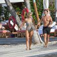 Exclusif - Spencer Matthews avec sa femme Vogue Williams en vacances à l'hôtel Eden Rock à Saint-Barthélemy le 15 Décembre 2019