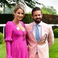 Spencer Matthews et sa compagne Vogue Williams - Les célébrités lors du Derby Investec d'Epsom le 1er juin 2018