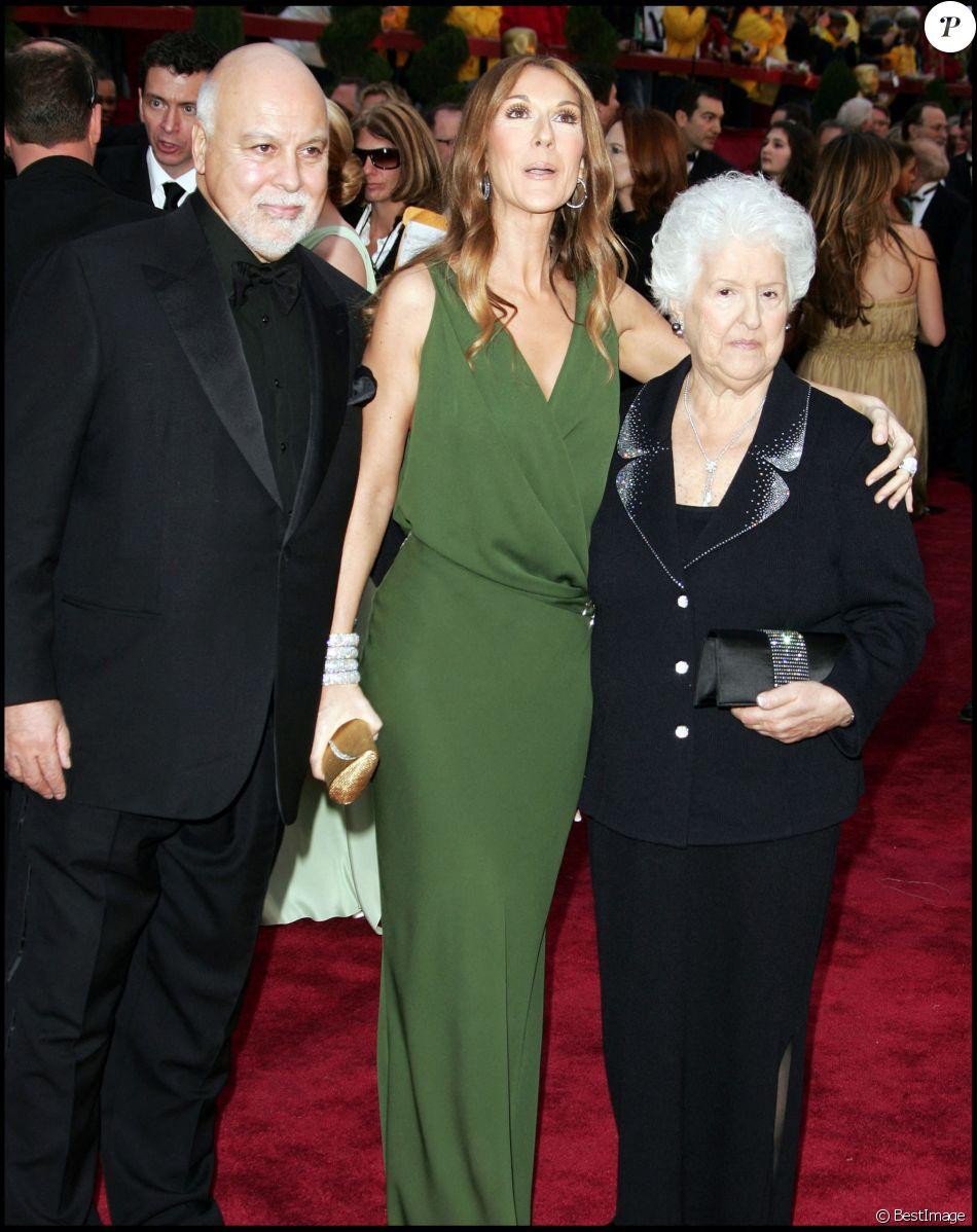 René Angelil, Céline Dion et sa mère Thérèse - Arrivée à la 79ee cérémonie des Oscars - 24/02/2007 - Hollywood