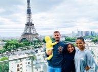 M. Pokora de retour à Paris avec Christina Milian, Isaiah et Violet