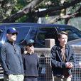 Reese Witherspoon est allée encourager son fils Tennessee à son match de football accompagné de son mari Jim Toth et son fils Deacon dans le quartier de Brentwood à Los Angeles, le 8 février 2020