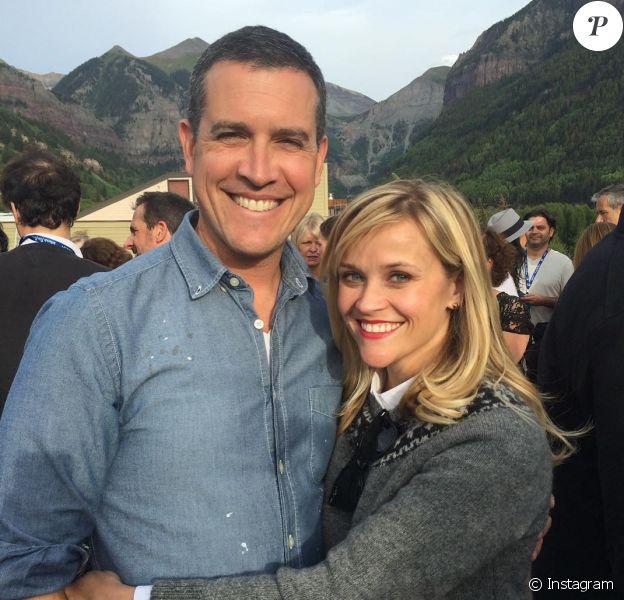 Reese Witherspoon, ici avec son mari Jim Toth en février 2019 sur Instagram, a eu 43 ans le 22 mars 2019.