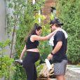 Lea Michele, enceinte, et son mari Zandy Reich à Los Angeles. Le 2 juillet 2020.
