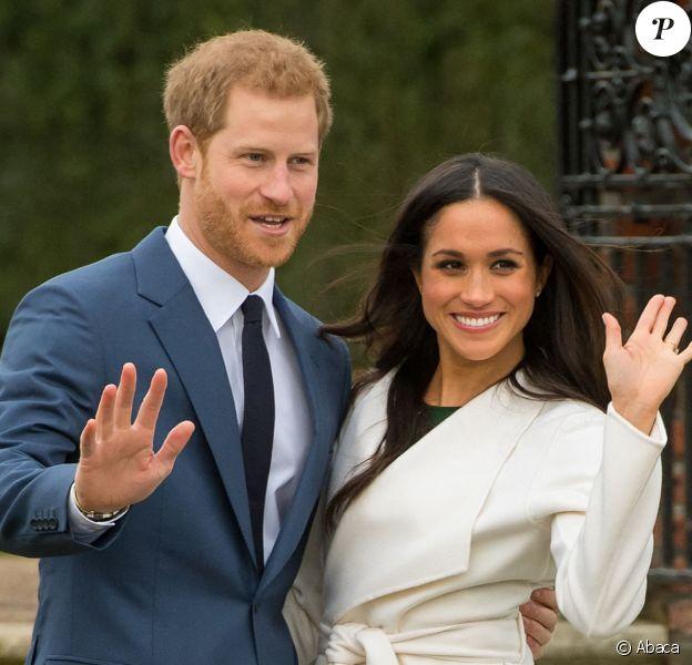 Meghan Markle et le prince Harry le 27 novembre 2017 au palais de Kensignton, où ils ont annoncé leurs fiançailles.