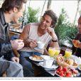 Adel, Frank et Filip réunis le temps d'une séance photos dans les rues de Paris, en avril 2004.