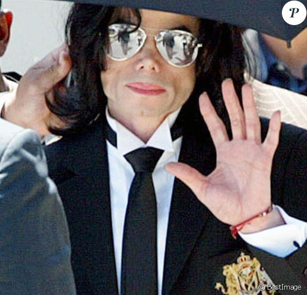 Michael Jackson à Santa Maria en Californie. Le 13 juin 2005.