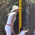 Miranda Rijnsburger, la girlfriend de Julio Iglesias, est à Marbella en compagnie de ses enfants (août 2009)