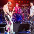 Michael Balzary, Chad Smith, Anthony Kiedis et Josh Klinghoffer - Concert du groupe Red Hot Chili Peppers à Atlanta le 14 avril 2017. © Daniel DeSlover via ZUMA Wire / Bestimage