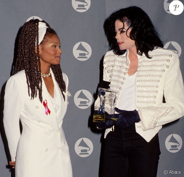 Janet Jackson et Michael Jackson aux Grammy Awards à Los Angeles.