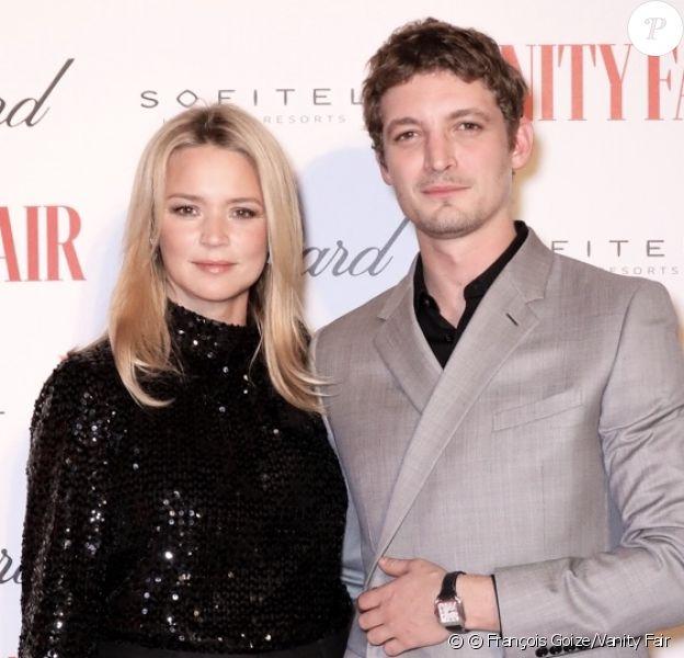 Virginie Efira et Niels Schneider à la soirée Vanity Fair des 50 Français les plus influents à Paris.