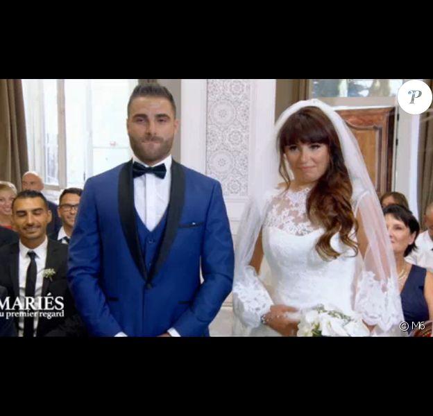 """Charlène et Florian, compatibles à 76% dans """"Mariés au premier regard"""" (M6), en 2017."""