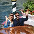 Anthony Delon et sa compagne Sveva Alvit arrivent à l'hôtel Excelsior lors de la 77ème édition du festival international du film de Venise (Mostra) le 2 septembre 2020.
