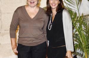 Muriel Robin et son amoureux, et la belle Cristiana Reali véritablement rayonnantes... au côté de jeunes acteurs très fougueux !