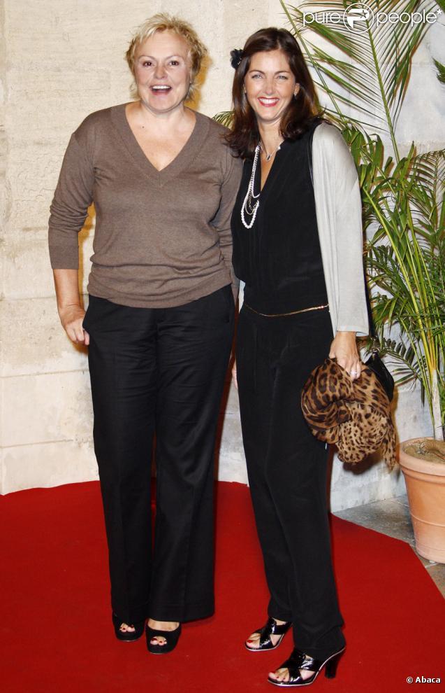 Muriel Robin et Cristiana Reali lors du festival de la fiction télévisée de la Rochelle le 19 septembre 2009