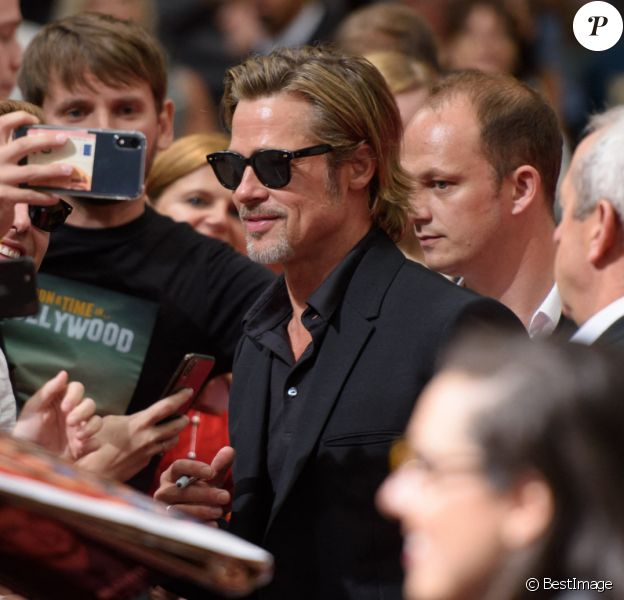 "Brad Pitt - Première du film ""Once Upon a Time in Hollywood"" à Berlin en Allemagne le 1er aout 2019."
