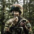 La princesse Elisabeth de Belgique au camp d'initiation militaire à Elsenborn, en Belgique, le 14 septembre 2020.