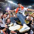 Joie des joueurs de l'équipe Toulouse - Bigflo - Victoire du Stade Toulousain - Finale du TOP 14 en rugby entre le Stade Toulousain et l'ASM Clermont au stade de France, Saint-Denis le 15 juin 2019. @F. Pestellini / Panoramic / Bestimage
