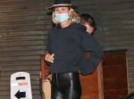Laeticia Hallyday : Passion pattes d'eph et cuir pour une soirée à Los Angeles